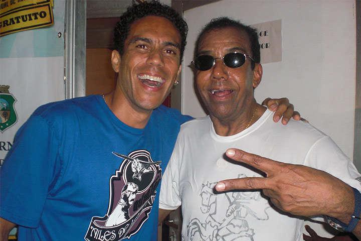Apresentador Ed Rodrigues e Jorge Ben Jor