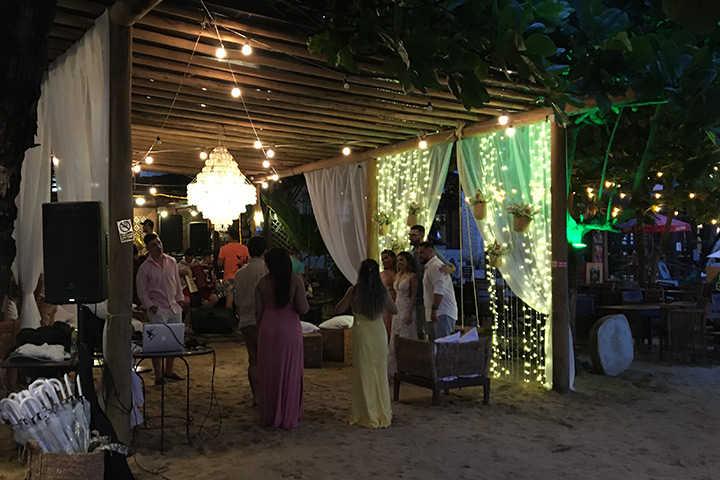 Festa de casamento no Bar do Alexandre em Jericoacoara