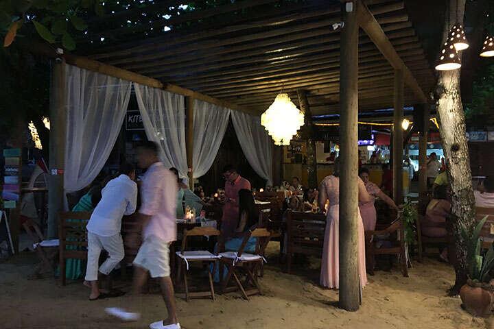 Recepção para convidados em restaurante, em Jericoacoara