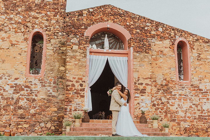 Casamento na igreja de Jericoacoara
