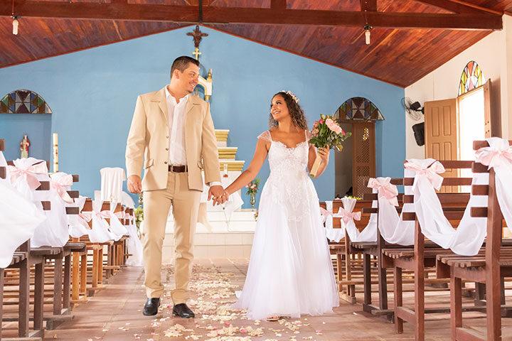Casamento na igreja católica de Jericoacoara