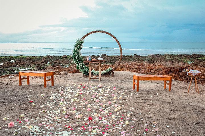 decoração de casamento na praia de jericoacoara