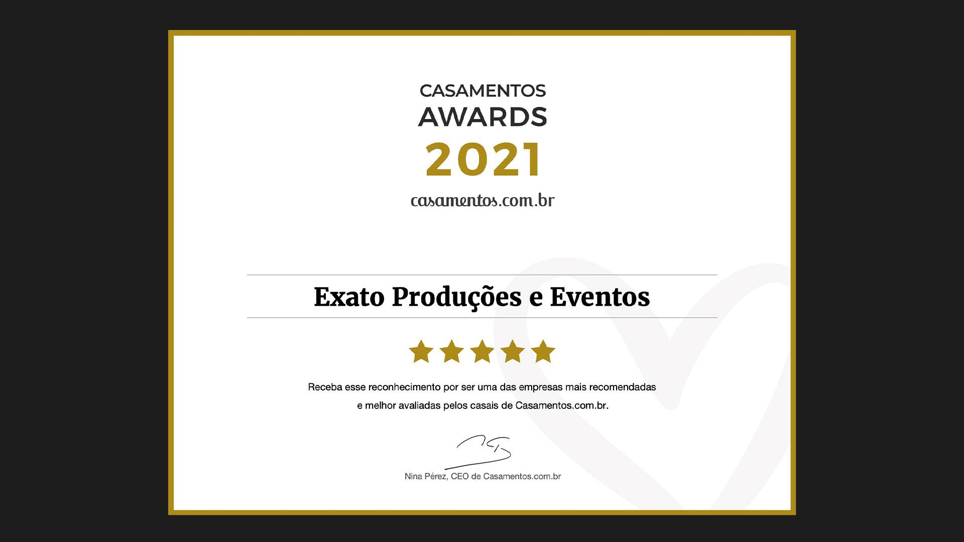 Banner de premiação de melhor cerimonialista do Ceará